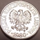 Gem Unc Poland 1980-MW 10 Groszy~Minted In Warsaw~Eagle~Free Shipping