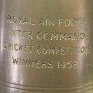 RARE ROYAL AIR FORCE 1958 CRICKET COMPETITION WINNER ENGLISH PEWTER MUG~FREE SHI