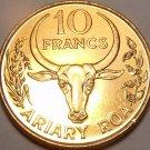 Awesome Gem Unc Madagascar 1996 10 Francs~2 Ariary~Vanilla Plant~Free Shipping