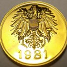 AUSTRIA 1981 PROOF SET MEDALLION~EXCELLENT~FREE SHIP~