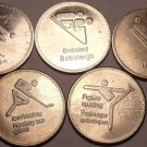 Lot Of 5 Large Trust Of Canada Winter Olympic Sports Medallions~Free Shipping