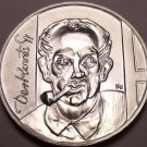 Rare Gem Bu Silver Hungary 1976-BP 200 Forint~Gyula Derkovits, Painter~Free Sh