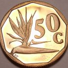 Rare Proof South Africa 1993 50 Cents~Strelitzia Plant~Only 7,790 Minted~Free Sh