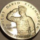 Massive Gem Unc Marshall Islands 1990-M Five Dollars~Dwight David Eisenhower~FS