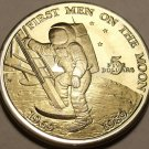 Massive Gem Unc Marshall Islands 1989 Five Dollars~First Men On The Moon~Free Sh