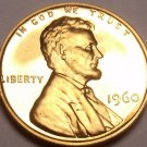 United States Proof 1960 Cent~See Why Proofs Are Best Coins~Free Shipping