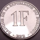 Gem Unc Burundi 1993-PM 1 Franc~Last Year Ever Minted~Free Shipping