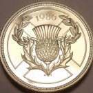 Scarce Gem Cameo Proof Great Britain 1986 2 Pounds~Commonwealth Games~Free Ship