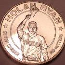 Gem Brilliant Unc Liberia 1993 Dollar ~Nolan Ryan 7 Career No Hitters~Free Ship