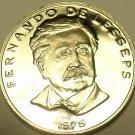 Huge Proof Panama 1975 50 Centesimos~Fernando de Lesseps~1st Year~Free Shipping
