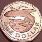 Rare Proof Barbados 1974 Dollar~Flying Fish~Only 36,000 Minted~Free Shipping