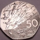 Huge Unc Great Britain 1994 50 Pence~World War II Invasion Of Normandy~Free Ship