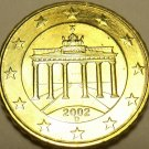 GEM UNC 2002-D GERMANY 10-EURO CENTS~BRANDENBURG~FREE SHIP~
