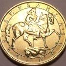 LARGE UNC BULGARIA 1992 5 LEVA~MADARA HORSEMAN~FREE SHI