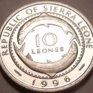 Gem Unc Sierra Leone 1996 10 Leones~Mammy Yoko~Excellent~Free Shipping
