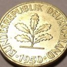 Rare Unc Germany 1950-D 10 Pfennig~Special Price~Free Shipping*