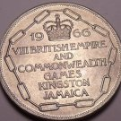 Massive Unc Jamaica 1966 5 Shillings~Commonwealth Games Kingston~Free Shipping~