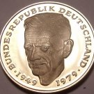 Gem Cameo Proof Germany 1982-D 2 Marks~Dr Kurt Schumacher~78k Minted~Free Ship