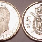 PROOF SPAIN 1975(77) 5 PESETAS~GREAT PRICE~~FREE SHIP~~