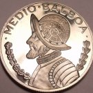 Rare Silver Proof Panama 1972 Half Balboa~Only 13,332 Minted~Awesome~Free Ship