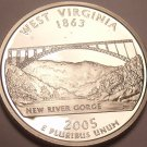 Gem Cameo Proof 2005-S West Virginia State Quarter~See R Proof Quarters~Free Shi