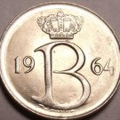 GEM UNC BELGIUM 1964 25 CENTIMES~1ST YEAR EVER~FREE SHI