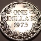 Rare Proof Liberia 1973 Dollar~Only 11,000 Minted~We Have Low Mintage Coins~F/S