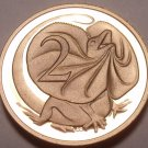 CAMEO PROOF AUSTRALIA 1988 2 CENTS~FRILLED LIZARD~FREE