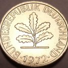 Gem Unc Germany 1972-J 5 Pfennig~Check Our Thousands Of Unc Coins~Free Shipping