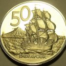 Huge Cameo Proof New Zealand 1982 50 Cents~Only 18,000 Minted~HMS Endeavour~Fr/S