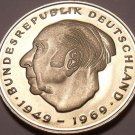 Gem Cameo Proof Germany 1982-D 2 Marks~Theodor Heuss~Only 78,000 Minted~Free Shi