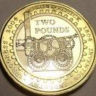 Gem Cameo Great Britain 2004 Bi-Metal 2 Pounds~Steam Locomotive~Excellent~Fr/Shi