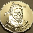 Rare Proof Swaziland 1974 5 Cents~Scalloped Coin~Only 13,000 Minted~Free Ship