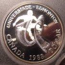 Huge Gem Silver Cameo Proof Canada 1983 Edmonton University Games Dollar~Fr/Sh