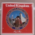 Gem Great Britain 1985 Royal Mint Issued 7 Coin Brilliant Unc Coin Set~Free Ship