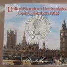 Gem Great Britain 1982 Royal Mint Issued 7 Coin Brilliant Unc Coin Set~Free Ship