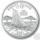 2001-D RHODE ISLAND BRILLIANT UNC STATE QUARTER