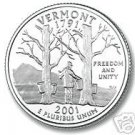 2001-D VERMONT BRILLIANT UNCIRCULATED STATE QUARTER