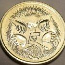 Gem Bu Australia 1997 5 Cents~Echidna~Elizabeth II~See R Australian Coins~Fr/Shi