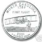 2001-D NORTH CAROLINA BRILLIANT UNC STATE QUARTER