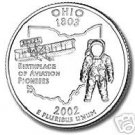 2002-D OHIO BRILLIANT UNCIRCULATED STATE QUARTER
