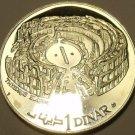 RARE MASSIVE SILVER PROOF TUNISIA 1969-F.M.N.I. DINAR~THYSDRUS-EL DJEM~FREE SHIP