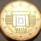 Gem Brilliant Unc Malta 2008 1 Euro Cent~Minted In Paris France~Free Shipping