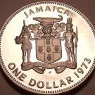 MASSIVE PROOF JAMAICA 1973 DOLLAR~28K MINTED~FREE SHIP~