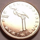 UNC SLOVENIA 2007 1 EURO CENT~CRANE~BEAUTIFUL~FREE SHIP
