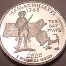 Gem Cameo Proof Massachusetts 2000-S State Quarter~Proofs Are Best~Free Shipping