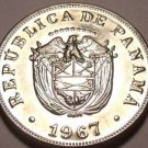 Rare Proof Panama 1967 5 Centesimos~Only 19,983 Minted~See R Coins~Free Shipping