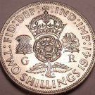 Unc Silver Great Britain 1941 2 Shillings~See All Our Unc Silver Coins~Free Ship