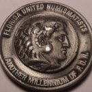 Massive Unc Pewter Florida United Numismatists 45th Annual Convention Medal~Fr/S