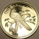 MASSIVE SILVER PROOF BELIZE 1974 DOLLAR~31K MINTED~RARE~SCARLET MACAWS~FREE SH